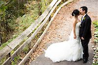 special moment - Portrait of Married Couple Kissing Outdoors, Toronto, Ontario, Canada Stock Photo - Premium Royalty-Freenull, Code: 600-07117240