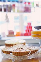 supermarket not people - Shop Interior with Tarts on Glass Cake Stand Stock Photo - Premium Rights-Managednull, Code: 822-07117438