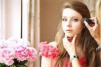 Teenage Girl Having Makeup Applied Stock Photo - Premium Rights-Managednull, Code: 822-07117446