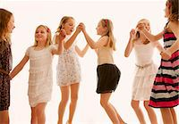 Group of Girls Dancing Stock Photo - Premium Rights-Managednull, Code: 822-07117501
