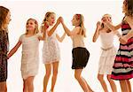 Group of Girls Dancing Stock Photo - Premium Rights-Managed, Artist: ableimages, Code: 822-07117501