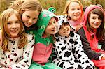 Group of Smiling Girls Wearing Animal Costumes Stock Photo - Premium Rights-Managed, Artist: ableimages, Code: 822-07117575