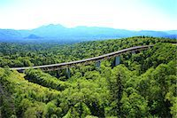 Matsumi bridge and trees, Hokkaido Stock Photo - Premium Royalty-Freenull, Code: 622-07117613