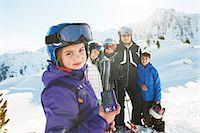 Family of skiers, Les Arcs, Haute-Savoie, France Stock Photo - Premium Royalty-Freenull, Code: 649-07118126