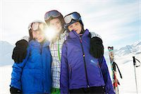 Portrait of brother and sisters in snow, Les Arcs, Haute-Savoie, France Stock Photo - Premium Royalty-Freenull, Code: 649-07118138