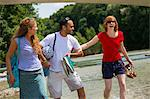 Three friends near Isar River, Munich, Germany Stock Photo - Premium Royalty-Freenull, Code: 649-07118236