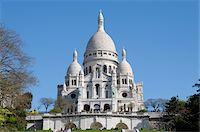 Basilique du Sacre-Coeur, Montmartre, 18th Arrondissement, Paris, France Stock Photo - Premium Rights-Managednull, Code: 700-07122900