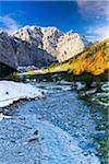 Creek with Karwendel Mountains in Autumn, Grosser Ahornboden, Alpine Park Karwendel, Tyrol, Austria Stock Photo - Premium Royalty-Free, Artist: F. Lukasseck, Code: 600-07143678