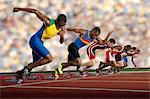 Six athletes starting race Stock Photo - Premium Royalty-Free, Artist: Aflo Sport, Code: 614-07145744