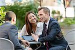 Business people chatting at coffee break Stock Photo - Premium Royalty-Free, Artist: Cultura RM, Code: 614-07145986