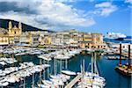 Marina and view of Old Town and Port with Saint Jean Baptist Church, Corsica, France Stock Photo - Premium Rights-Managed, Artist: Siephoto, Code: 700-07148266