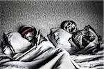 Skeleton Couple Sleeping in Bed Stock Photo - Premium Rights-Managed, Artist: Siephoto, Code: 700-07148325