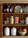 Kitchen Pantry with food supplies, studio shot Stock Photo - Premium Royalty-Free, Artist: Michael Alberstat, Code: 600-07156232