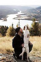 Man with dog Stock Photo - Premium Royalty-Freenull, Code: 6102-07158073