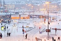 stockholm - Winter city, Slussen, Sodermalm, Stockholm, Sweden Stock Photo - Premium Royalty-Freenull, Code: 6102-07158150