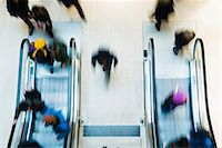 people on mall - Blurred motion of people using escalator in mall Stock Photo - Premium Royalty-Freenull, Code: 698-07158461