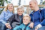 Portrait of happy boys with mother and father outdoors Stock Photo - Premium Royalty-Free, Artist: Beth Dixson, Code: 698-07158549