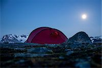 Tent on mountain at night Stock Photo - Premium Royalty-Freenull, Code: 698-07158627