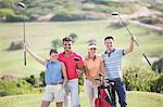Friends on golf course Stock Photo - Premium Royalty-Freenull, Code: 6113-07159315