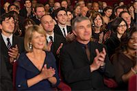 Clapping theater audience Stock Photo - Premium Royalty-Freenull, Code: 6113-07159407
