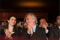 Clapping theater audience Stock Photo - Premium Royalty-Freenull, Code: 6113-07159977