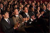 Clapping theater audience Stock Photo - Premium Royalty-Freenull, Code: 6113-07160102