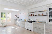 stove - Luxury rustic kitchen Stock Photo - Premium Royalty-Freenull, Code: 6113-07160715