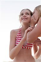 preteen bathing suit - Friends telling secrets Stock Photo - Premium Royalty-Freenull, Code: 632-07161405