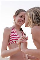 preteen bathing suit - Friends bonding at the beach Stock Photo - Premium Royalty-Freenull, Code: 632-07161406