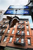 View of old brownstones and street signs, New York City, New York, USA Stock Photo - Premium Royalty-Freenull, Code: 600-07165049
