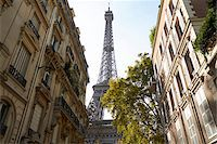 Eiffel Tower framed by buildings, Paris, France Stock Photo - Premium Rights-Managednull, Code: 700-07165056