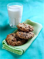 Cookies and milk Stock Photo - Premium Rights-Managednull, Code: 824-07193332