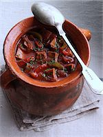 A rustic pot of beef goulash Stock Photo - Premium Rights-Managed, Artist: foodanddrinkphotos, Code: 824-07193977