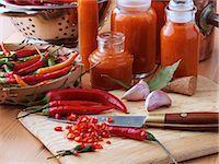 spicy - Making chilli sauce Stock Photo - Premium Rights-Managednull, Code: 824-07194258