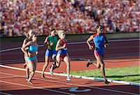 race track (people) - Runners racing on track Stock Photo - Premium Royalty-Freenull, Code: 614-07194374