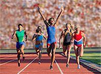 finish line - Runners at finish line Stock Photo - Premium Royalty-Freenull, Code: 614-07194378