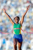 finish line - Runner at finish line Stock Photo - Premium Royalty-Freenull, Code: 614-07194384