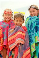 preteen swim - Children Wrapped in Beach Towels Stock Photo - Premium Rights-Managednull, Code: 700-07199594