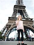 Girl eating Ice Cream Cone in front of Eiffel Tower, Paris, France Stock Photo - Premium Royalty-Free, Artist: Michael Alberstat, Code: 600-07199699
