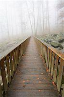 fog (weather) - Wooden bridge in early morning mist, popular destination, Felsenmeer, Odenwald, Hesse, Germany, Europe Stock Photo - Premium Royalty-Freenull, Code: 600-07199791
