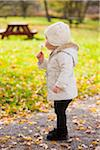Portrait of Baby Girl with Dandelion in Autumn, Scanlon Creek Conservation Area, Ontario, Canada Stock Photo - Premium Rights-Managed, Artist: Jim Craigmyle, Code: 700-07199781