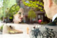 special moment - Close-up portrait of bride and groom sitting indoors next to window, with reflections in glass, Ontario, Canada Stock Photo - Premium Rights-Managednull, Code: 700-07199877