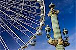 Streetlight and Place de la Concorde ferris wheel called La Grande Roue, Central Paris, France Stock Photo - Premium Rights-Managed, Artist: Robert Harding Images, Code: 841-07201803