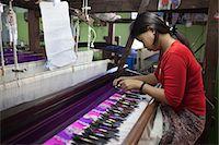 silky - Silk weaving workshop, Mandalay, Myanmar (Burma), Asia Stock Photo - Premium Rights-Managednull, Code: 841-07202553