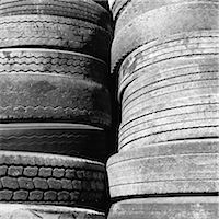 Close of a stack of discarded worn old automobile tyres, near Wendover in Utah. Stock Photo - Premium Royalty-Freenull, Code: 6118-07203237