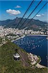 Cablecar ascending Sugarloaf Mountain (Pao de Acucar), Rio de Janeiro, Brazil Stock Photo - Premium Rights-Managed, Artist: R. Ian Lloyd, Code: 700-07204239