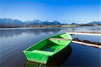 Rowing boat on Lake Hopfensee, Allgau, Bavaria, Germany, Europe Stock Photo - Premium Rights-Managednull, Code: 841-07204432