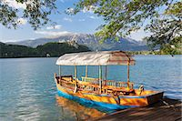 Traditional wooden rowing boat, Lake Bled, Bled, Slovenia, Europe Stock Photo - Premium Rights-Managed, Artist: Robert Harding Images, Code: 841-07204481