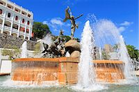 La Princesa Fountain in Old San Juan, Puerto Rico, Caribbean Stock Photo - Premium Rights-Managednull, Code: 841-07205614