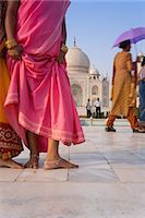 Visitors in front of the Taj Mahal, UNESCO World Heritage Site, Agra, Uttar Pradesh, India, Asia Stock Photo - Premium Rights-Managednull, Code: 841-07205721
